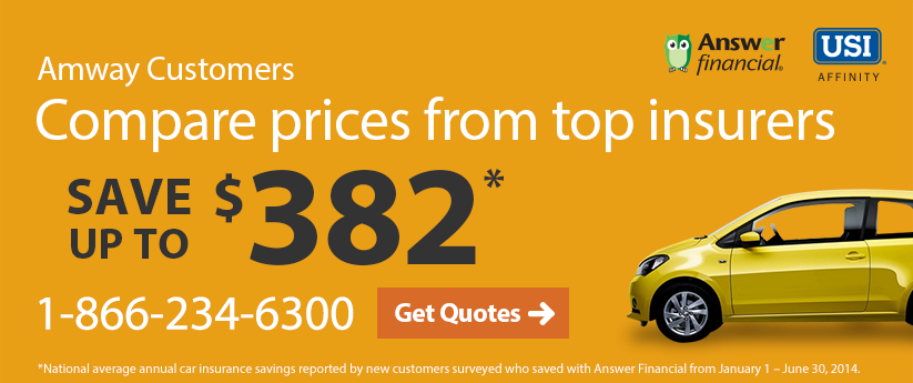 Amway Customers Compare prices from top insurers. Save up to $382. 1-866-234-6300. Get Quotes.