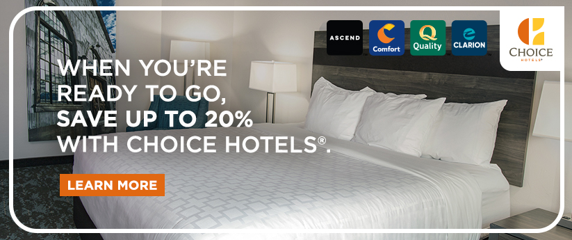 CHOICE HOTELS CANADA; For great discounted rates in Canada or the United States; BOOK NOW.