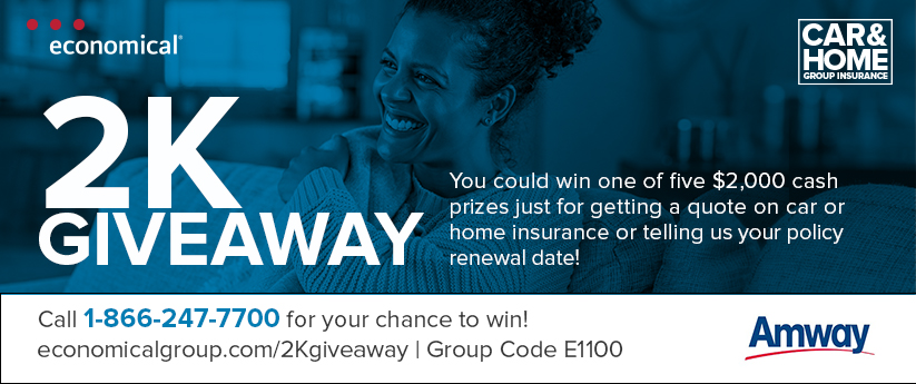 How would you use $5,000? economical $5 giveaway. Get a quote on car or home insurance through Economical, and you could win 1 of 26 cash prizes of $5,000! Contest closes March 31, 2021 - the sooner you enter, the sooner you can save on insurance and have a chance to win extra cash in our $5K giveaway! Call for a quote today 1-866-247-7700 Find out more at www.economicalgroup.com/5Kgiveaway and enter group discount code E1100.